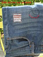 réparation jean repair accroc