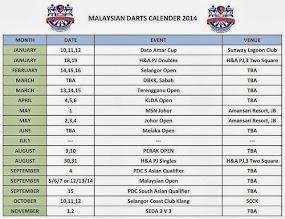 MALAYSIA DART CALENDAR 2014