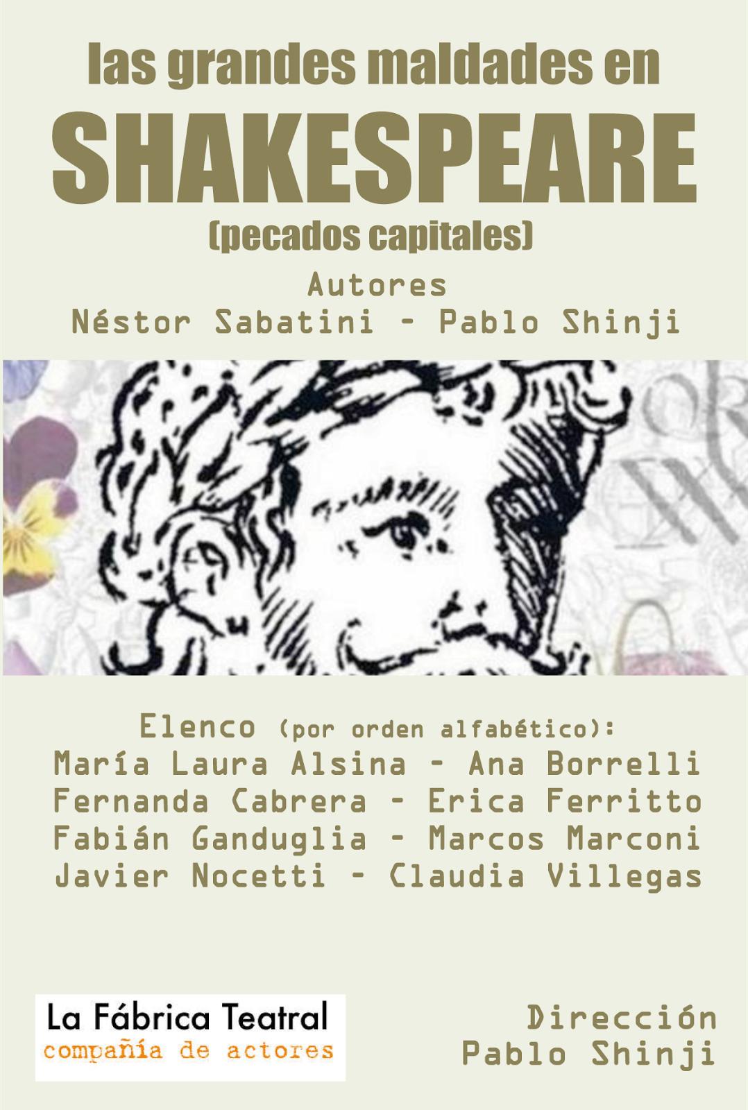 """""""las grandes maldades en shakespeare"""" de Nestor Sabatini y Pablo shinji"""