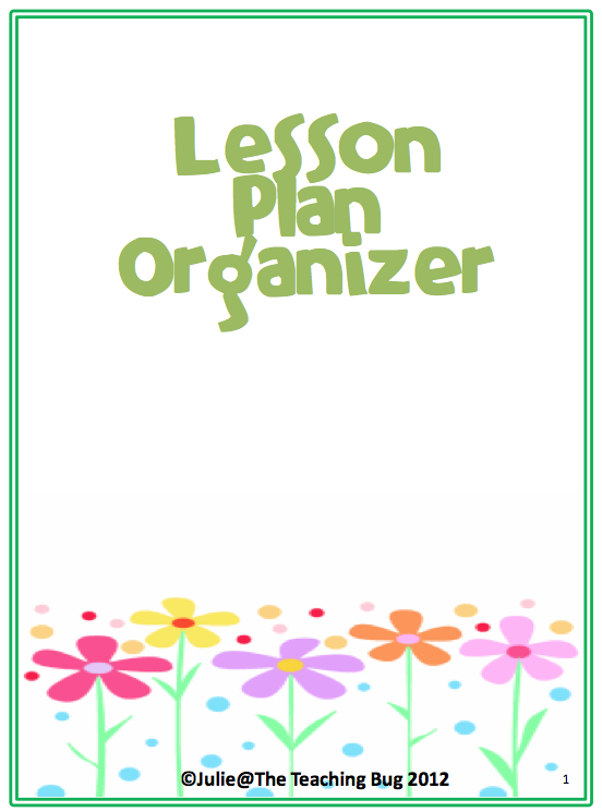 lesson plan organizer