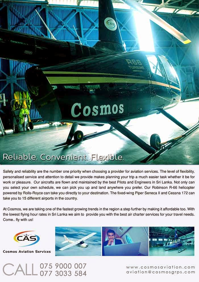 While it's true that flying brings with it unrivaled excitement and adventure, piloting an aircraft remains a highly skilled and precise discipline. The Cosmos Aviation Flying school is a BOI approved, licensed flying school which has received certifications from Civil Aviation Authority Of Sri Lanka.