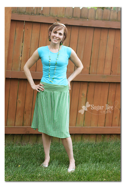 Knitting Skirt Tutorial : Easy knit skirt tutorial sugar bee crafts