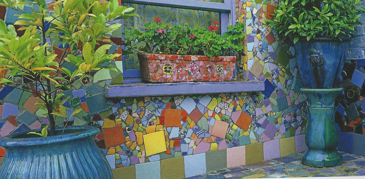 Garden thymes mosaic madness for Garden mosaics designs