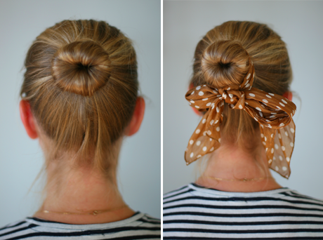 DIY Sock Bun Say Yes - Diy bun cover