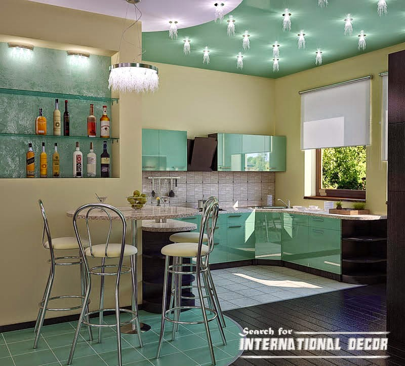 Modern kitchen ceiling lighting and spot light, kitchen ceiling paints