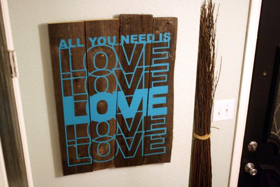 Remodelaholic Rustic Vinyl Wall Decal Art Tutorial - Wall decals wood
