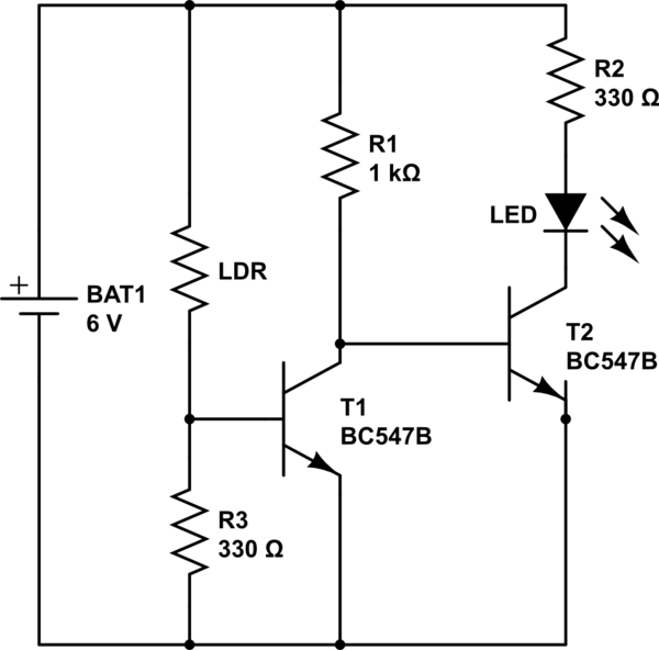 Electronic schematic as well Dark Sensor also Ask Hackaday Dude Wheres My Mosfet in addition 12v 100a Voltage Sensitive Relay Kit additionally Rf Controlled Robot Without Microcontroller. on low battery 6 volt circuit