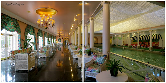 The greenbrier pool area