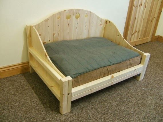 wooden dog bed raised elevated matress frame wood