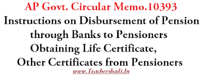 Memo10393,Disbursement of Pension, Obtaining Life Certificate