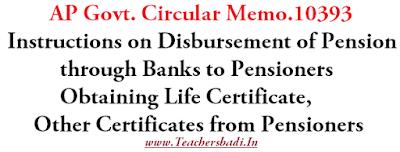 Memo10393,Disbursement of Pension, Obtaining Life Certificate