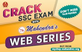 CRACK SSC EXAM WITH MAHENDRAS WEB SERIES