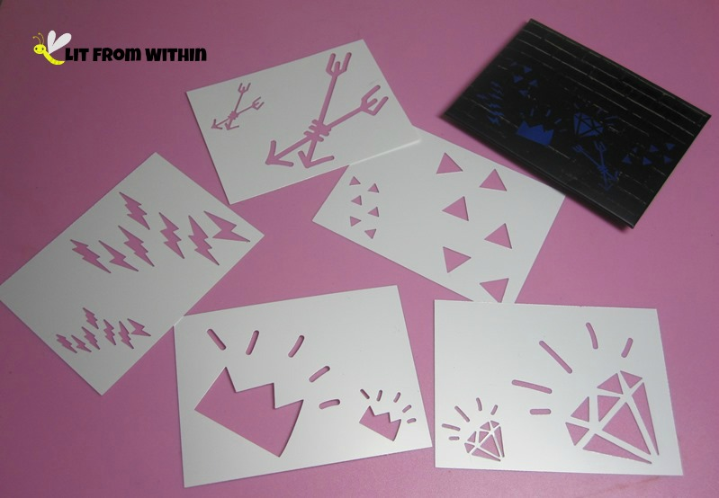 Make One Direction body art with the cool stencils that came with the set!