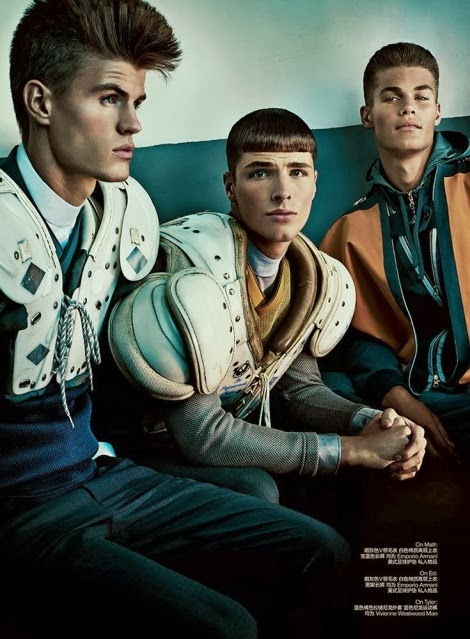 Matt Woodhouse and Edward Wilding by Thomas Cooksey for GQ Style China