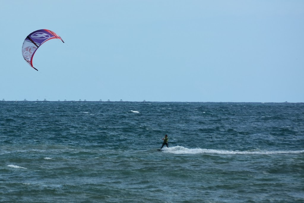 Malagueta Beach kite surfing