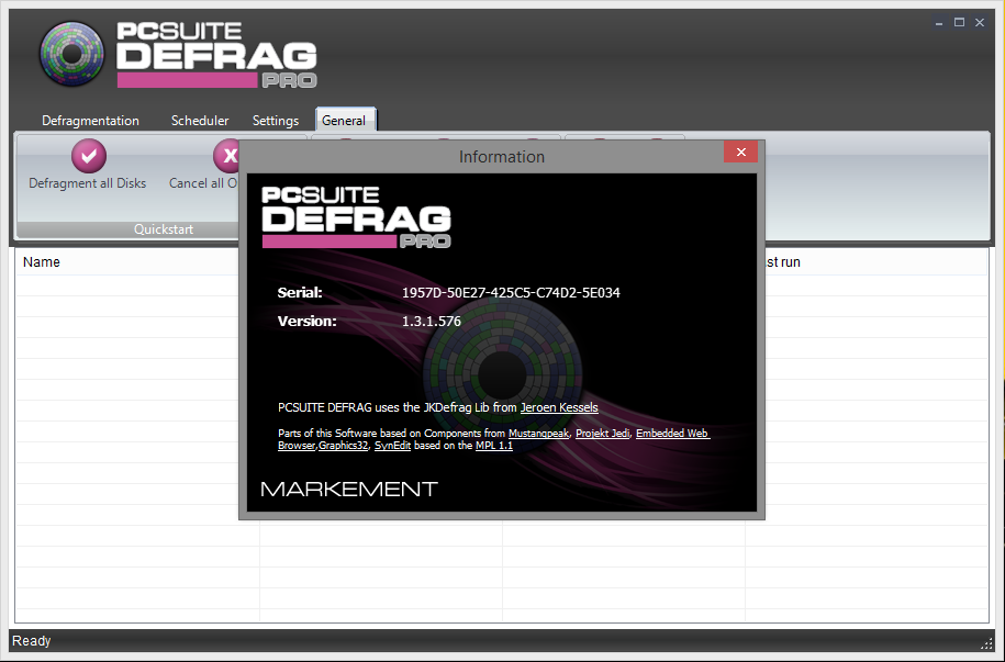 PCSuite Defrag Pro 1.3 + Portable Full Activation Serial