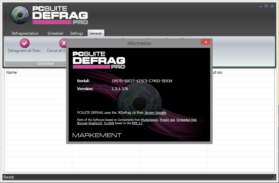 PCSuite Defrag Pro 1.3 + Portable Full Activation Serial