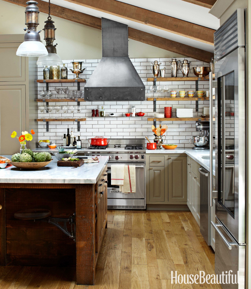 Old barn wood cabinets rustic barn wood kitchen cabinets tile - Mix And Chic A Rustic Industrial Kitchen In Napa Valley