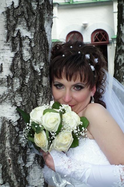 Свадебное фото - минуты свадебного счастья невесты