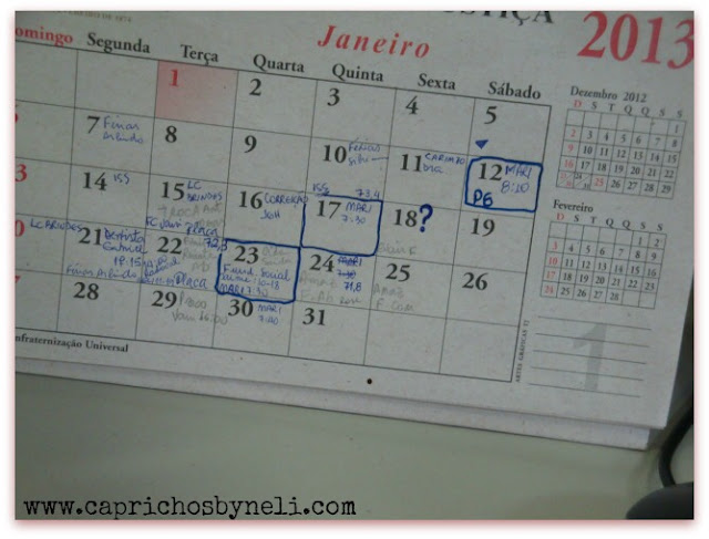 organizando meu dia com calendário de mesa