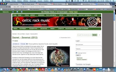 chronique en allemand de l'album Donemat a été publiée sur le site du fanzine webradio Celtic - Rock . de