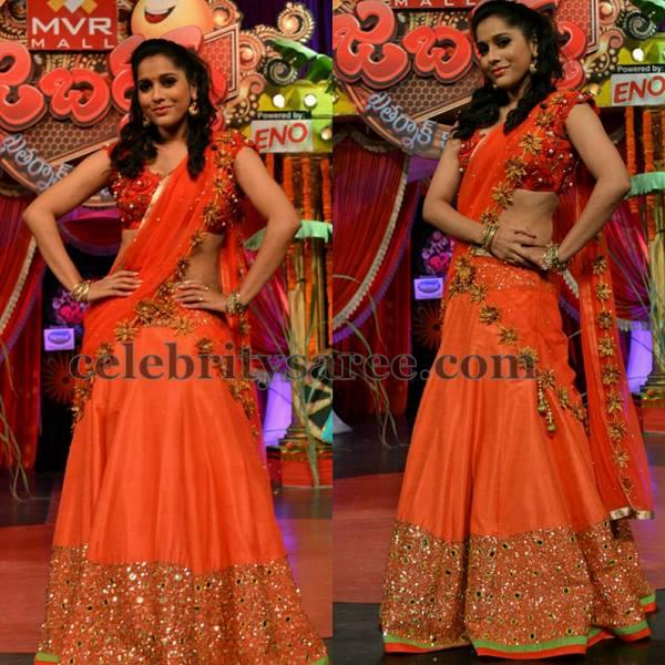 Reshmi Mirror Half Sari by Mugdha