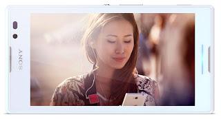 Gambar Sony Xperia C yang putih