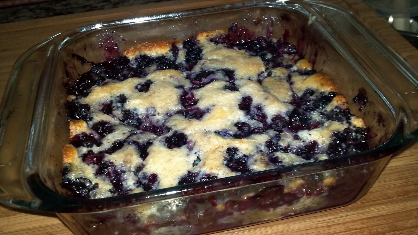 Sunday Supper, Grits, and Champagne: Quick Peach or Blueberry Cobbler