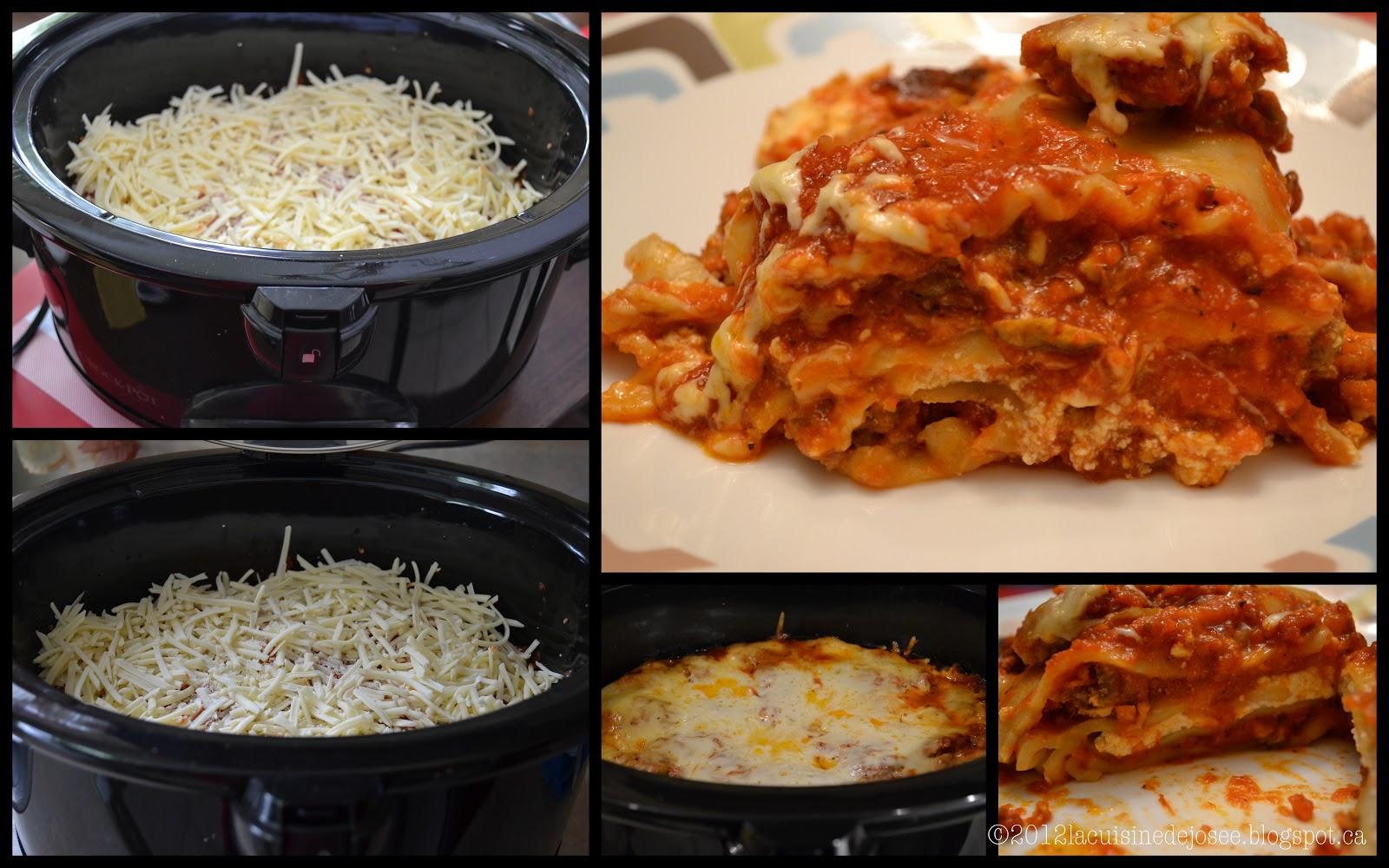 La cuisine de jos e lasagne la mijoteuse ricardo - Ricardo cuisine mijoteuse ...