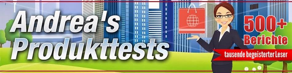Produkttests by Andrea berichtet über verschiedene Produkte, Webseiten, Shops und Dienstleistungen.