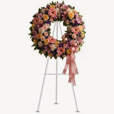 Send a Sympathy Wreath - Teleflora Graceful Condolences Wreath
