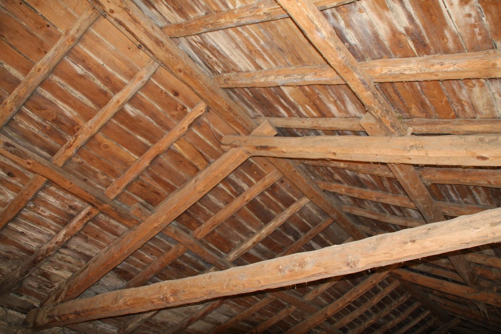Buscando a pyrene empezando la casa por el tejado for Tejados de madera casas