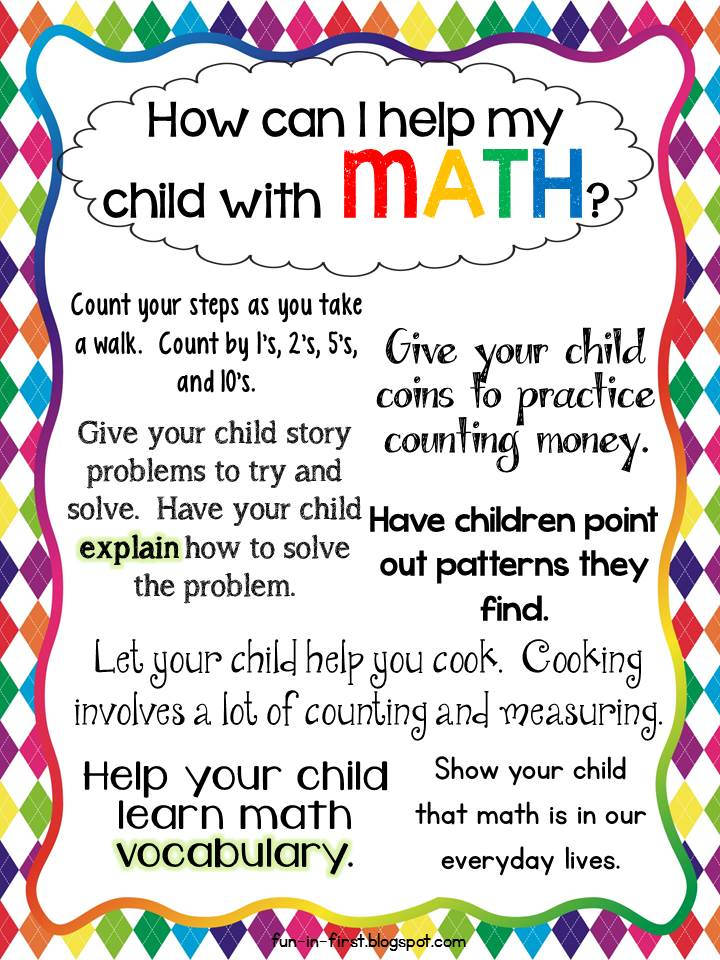 Parent tips for math facts kindergarten