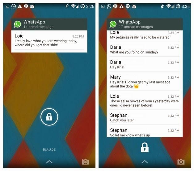Cara Menambahkan Widget WhatsApp di Lock Screen