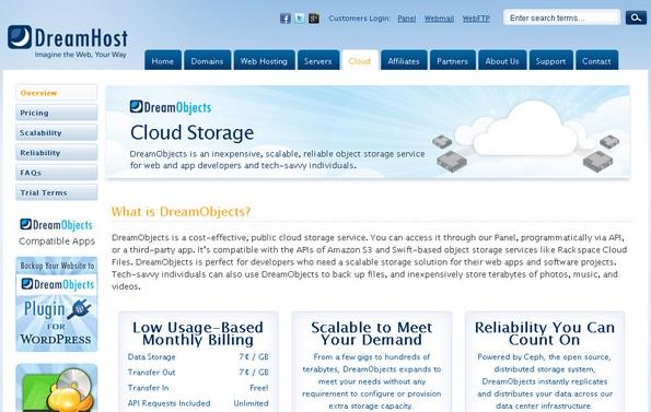 DreamObjects cloud storage service