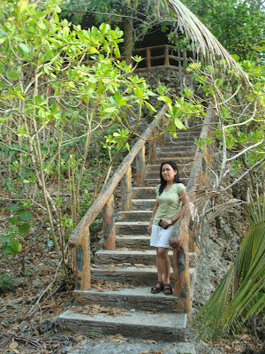 the stairs in Fiesta Cove