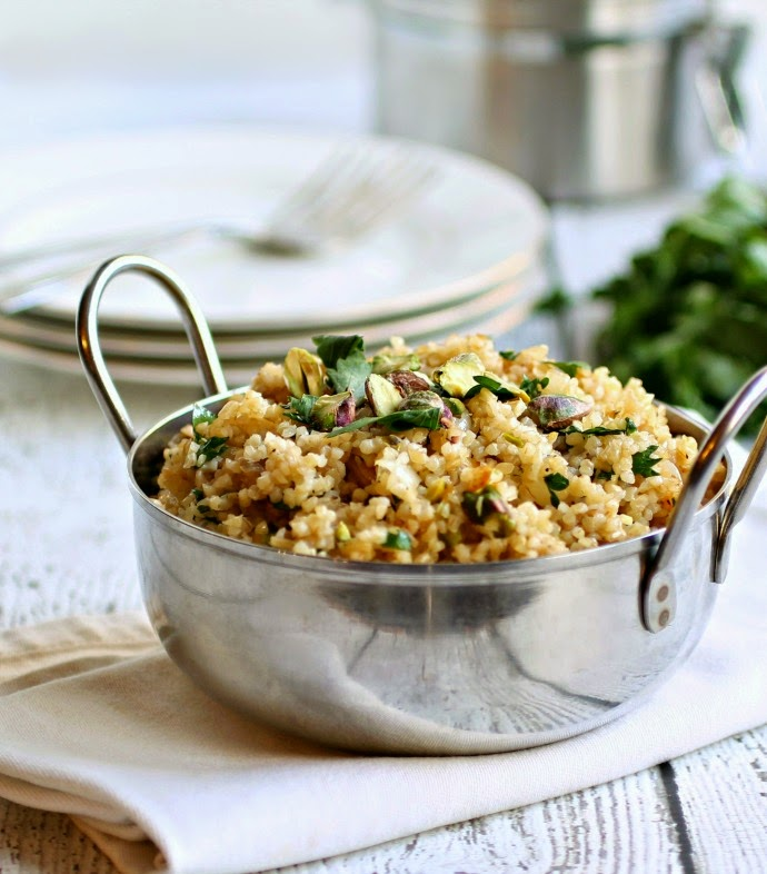 Nutty Whole Wheat Couscous Pilaf