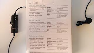 Micrófono de corbata Audio Technica ATR3350