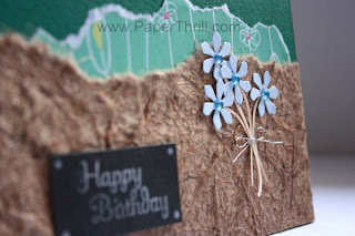 Handmade blue floral birthday cards