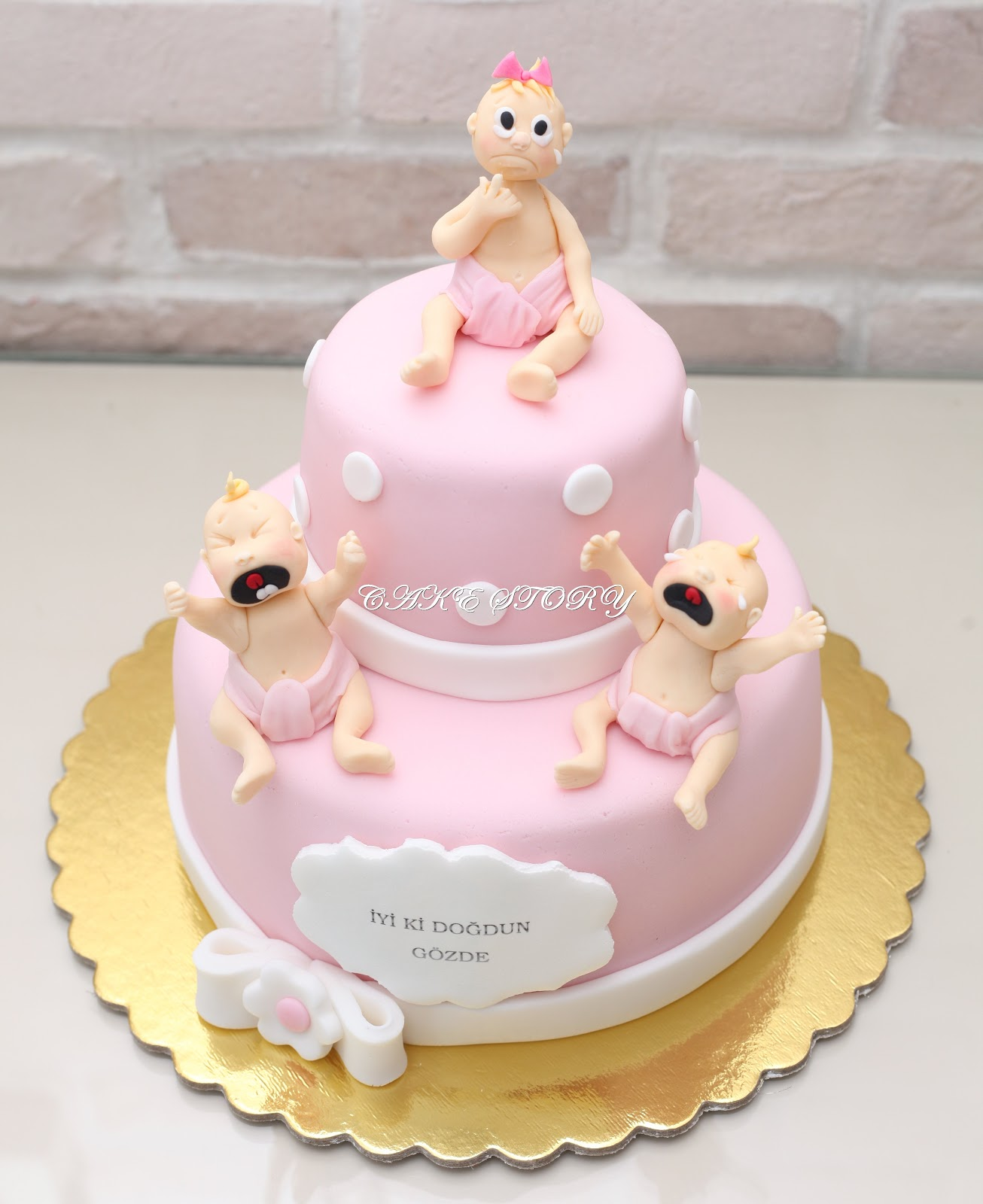 Cake Story: CRYING BABIES BIRTHDAY CAKE