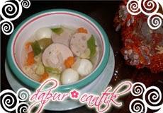 sup tahu udang dapur cantik