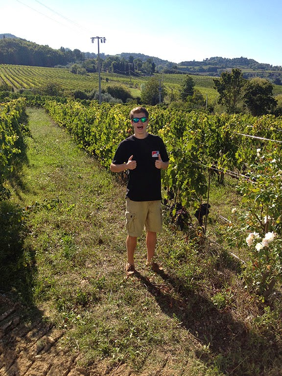 Culinary arts student Ryan Armstrong was one of 10 UAA students to spend a semester this school year immersed in the food scene of Tuscany. (Photo courtesy of Ryan Armstrong)