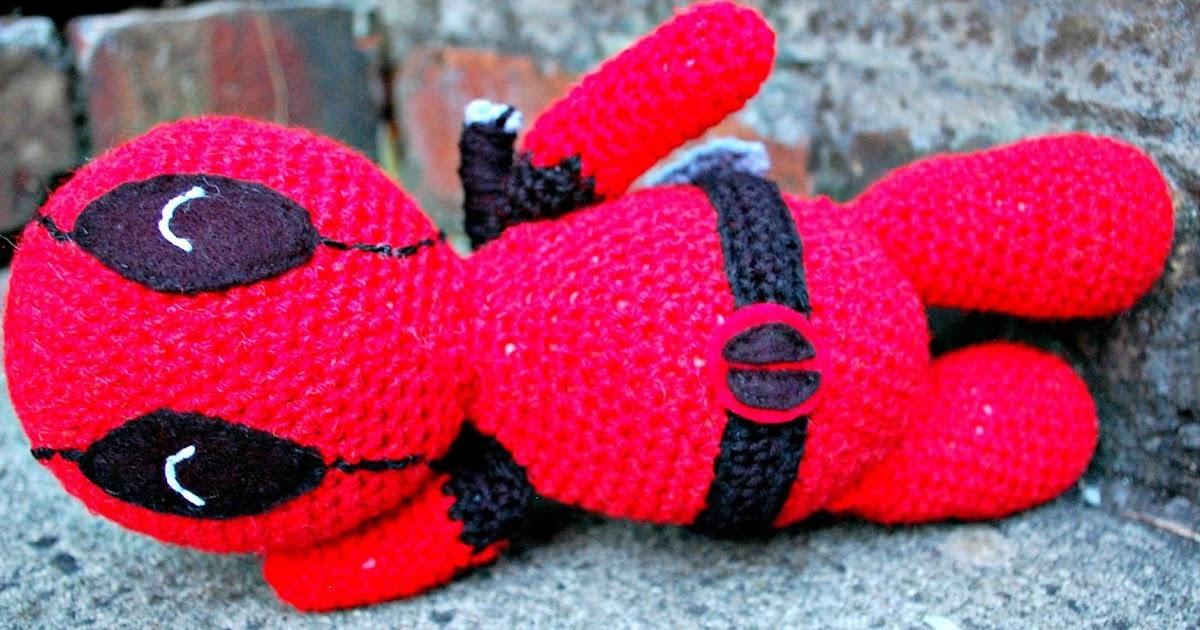 The Geeky Knitter Amigurumi Deadpool Free Crochet Pattern