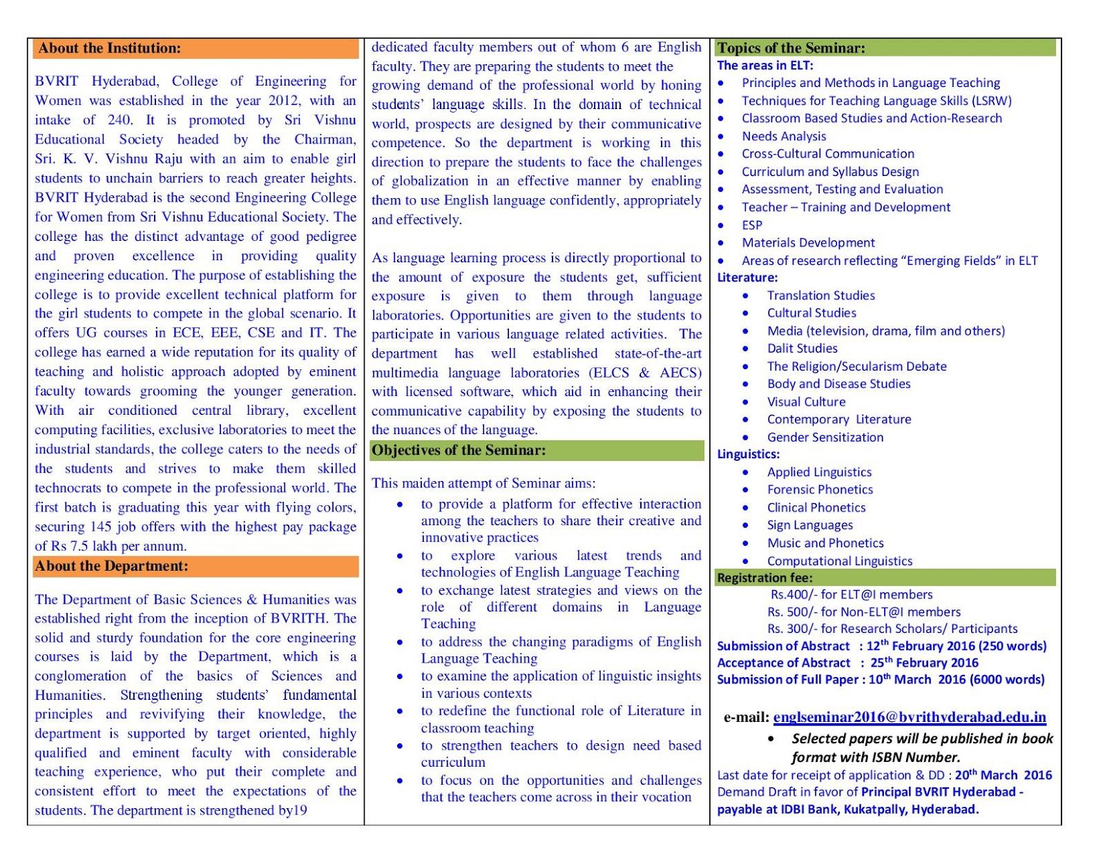 seminar topics for english lab Download reports of latest technical seminar topics for engineering, medical and ieee general seminars.