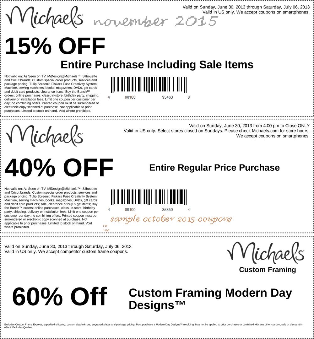 Michaels coupon frame printable