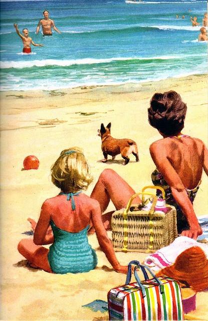 vacaciones playa reflexión descanso familia