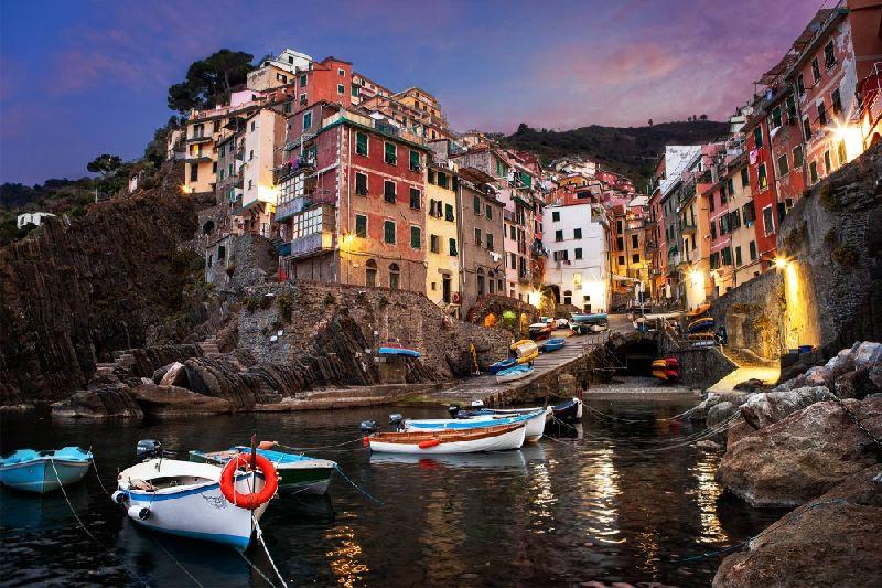Tiny towns Riomaggiore, Italy