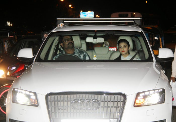Alia Bhatt Snapped with Her Audi Car Gallery
