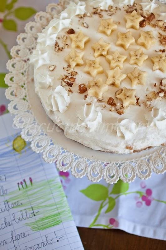 torta marshmallow, banana , rum e cocco