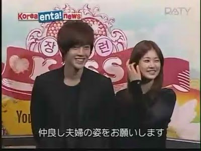 HJ then said something to SM and she put her hand on his armKim Hyun Joong And Jung So Min Kissing Scene